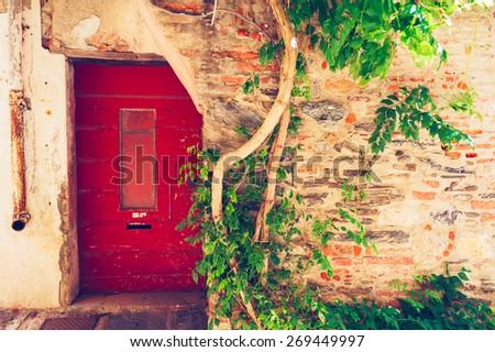 Old house facade, Provence, France - stock photo