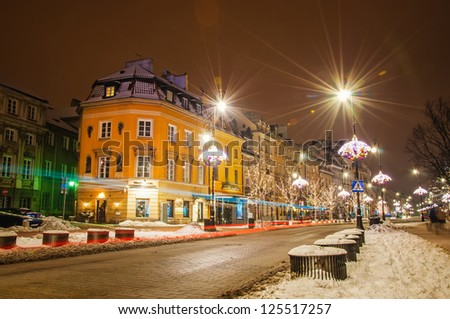 Old house in Warsaw, Poland. - stock photo
