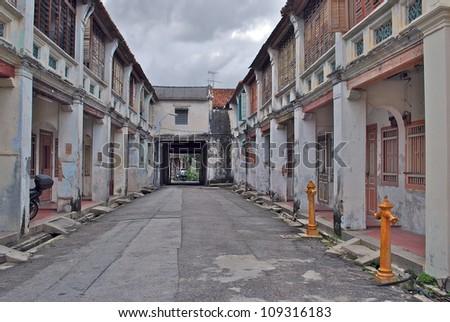 Old Houses, Penang, Malaysia - stock photo