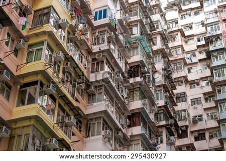 Old Housing in Hongkong - stock photo