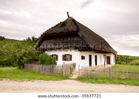 Old Hungarian farmer's house - stock photo