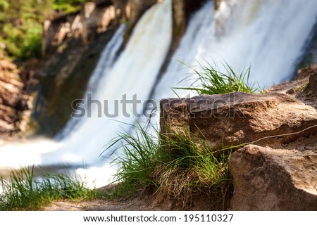 Old hydro dam - stock photo