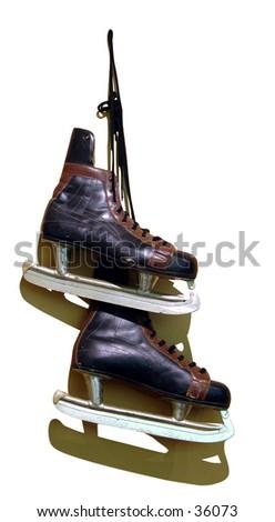 Old Ice skates - stock photo