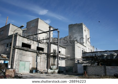 Old industrial complex - stock photo