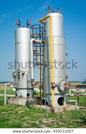 old industrial storage tank - stock photo