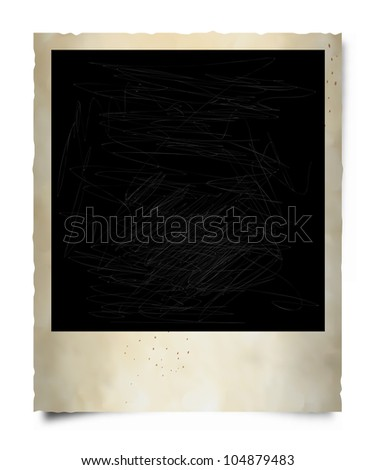 Old Instant Photo Frame. - stock photo