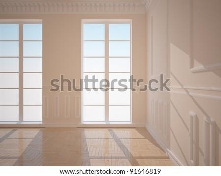 old interior design - stock photo