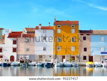 old Istrian town in Novigrad, Croatia. - stock photo