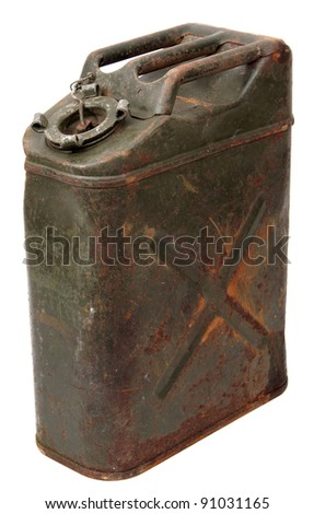 old jerrycan - stock photo