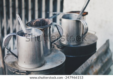 old kettle - stock photo