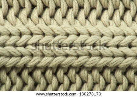 Old knit sweater background. Beige color. Studio shot - stock photo