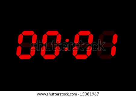 Old LCD bomb timer countdown - stock photo