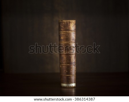 old legal book - stock photo