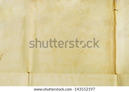 Old letter - Background Texture - Paper from 1800 ready to write on - stock photo