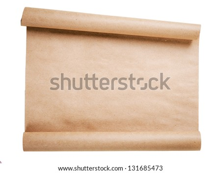 old letter on white - stock photo