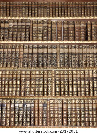 Old library - stock photo