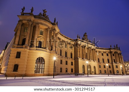 Old Library during the sunrise. Berlin, Germany - stock photo