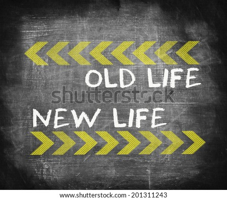 Old Life and New Life  - stock photo