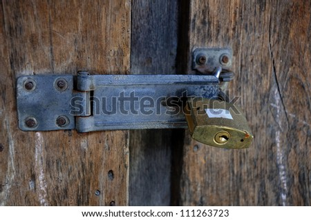 Old Lock - stock photo