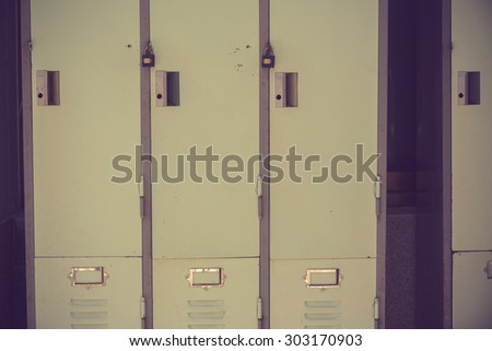 Old lockers vintage color - stock photo