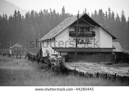 old lodge - stock photo