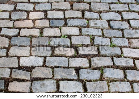 Old London cobblestone path - stock photo