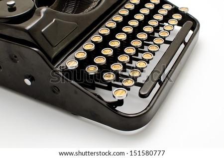 Old machine writing - stock photo