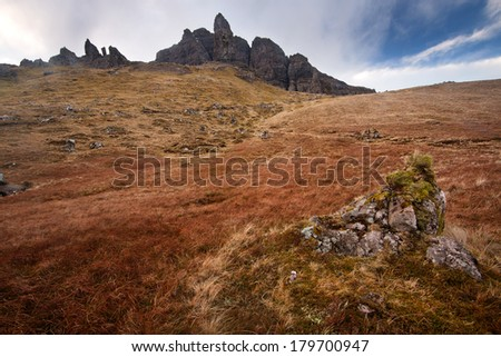 Old Man of Storr, Isle of Skye, Scotland - stock photo