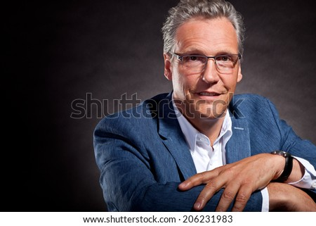 old man portrait - stock photo
