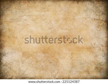 old map exploration and adventure background - stock photo