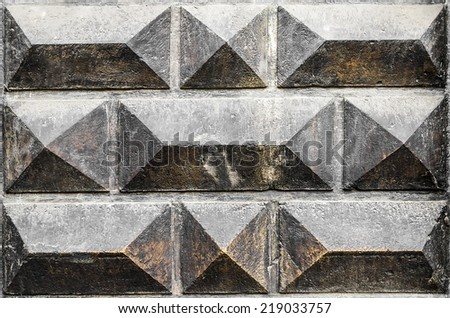 Old masonry in the Gothic style. Texture. - stock photo