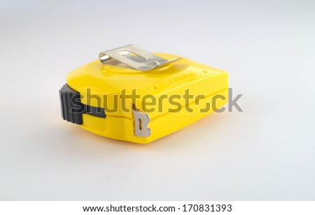 Old Measuring Tape (Close) - stock photo