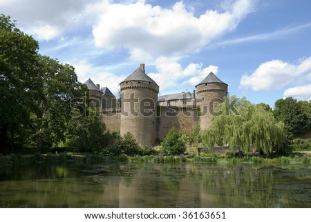 Old medieval castle in France - stock photo