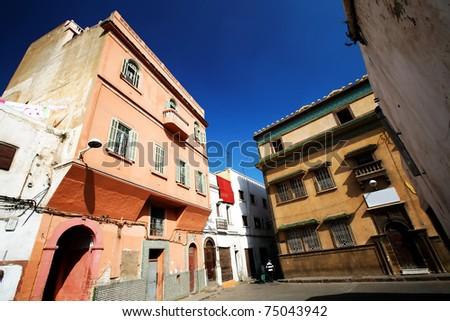 Old medina of Casablanca, Morocco, Africa - stock photo