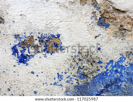 Old mediterranean washed wall background - stock photo