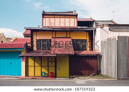 old melaka style house - stock photo