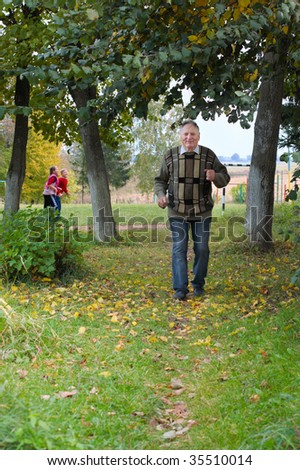 old men outdoor - stock photo
