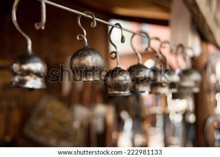 old metal bell - stock photo