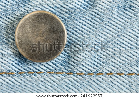 old metal button of jeans fashion - stock photo