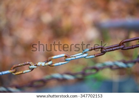 Old Metal Chains - stock photo