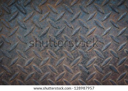 Old metal diamond texture background - stock photo