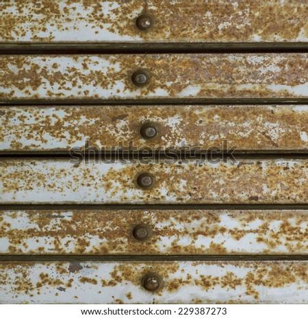 old Metal door - stock photo