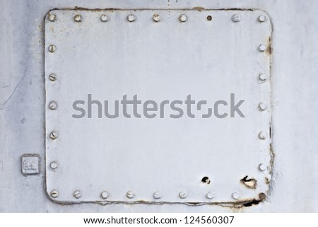 old metal plate texture background - stock photo