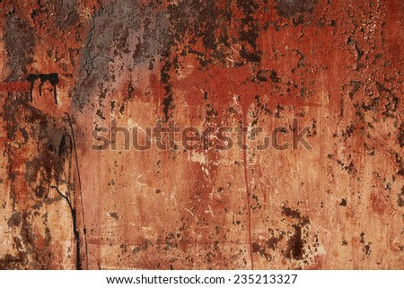 old metal surface with rust - stock photo