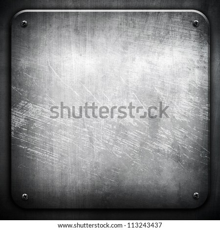 old metal template - stock photo