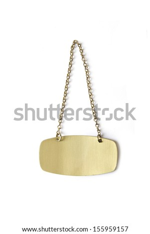 Old metallic plate - stock photo