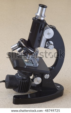Old Microscope - stock photo