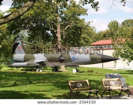 old military plane - stock photo