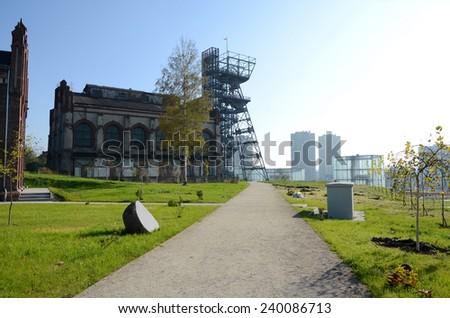 Old mine in Katowice (Poland) - stock photo