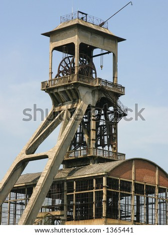 Old mining building - stock photo